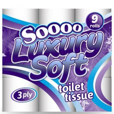 45 x soooo luxury Soft 3ply toilet roll 90 x Soooo Luxury Soft 3ply Toilet Roll