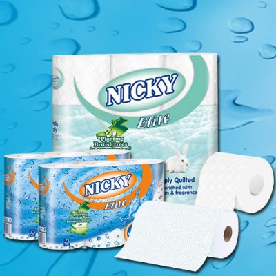 Nicky Elite Toilet rolls and Kitchen Rolls