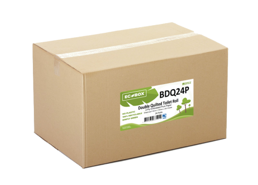 Ecobox Double Quilted Toilet Rolls BDQ24P