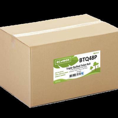 Ecobox Triple Quilted Toilet Rolls BTQ48P